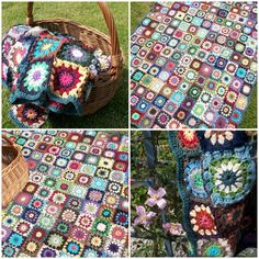 Lovely granny square blankets - need to learn to crochet :-)