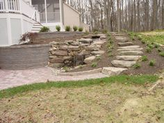 landscaping for a steep walk out basement yard - Google Search