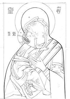 Vladimirskaja grafia (Busi) – iconecristiane.it Art Painting Oil, Byzantine Art, My Drawings, Learn Art, Paint Icon, Orthodox Christian Icons, Art, Catholic Art, Christian Art
