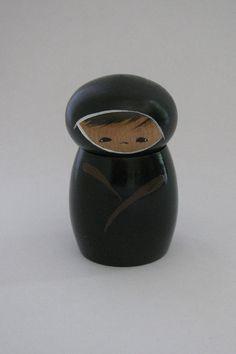 ninja+kokeshi+doll+by+NaomiGallery+on+Etsy,+$24.00