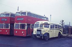 Blue Bus Services ORB277, seen at Derby Bus Station on March 15th 1968. A 1950 Duple bodied Daimler CVD6, with a pre-selective gearbox,