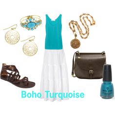 boho turquoise, created by ange-taylor on Polyvore