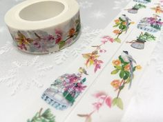 Colorful birds washi tape 10M rich color bird by TapesKingdom