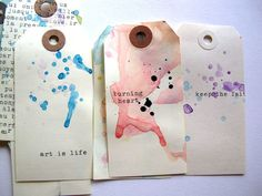 watercolor gift tags