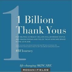 And it's OFFICIAL!! Rodan+Fields is THE #1 Skincare brand in the US!! Ready to jump on this opportunity & be part of the fastest growing skincare company out there?! Join my Team!!!! www.lisafaytle.myrandf.biz  #Unstoppable #ChangingSkinChangingLives #WhatsYourWHY #whywait.