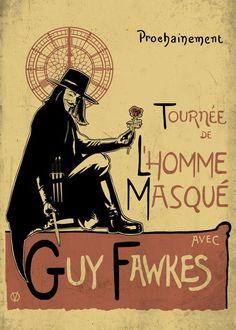 Guy Fawkes, V For Vendetta, Poster Prints, Art Prints, Posters, Movie Poster Art, Poster Making, Print Artist, School Projects