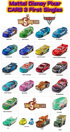 Mattel Disney Pixar CARS 3: It's Here! Diecast Singles Going Steady Into Your Shopping Cart | Take Five a Day