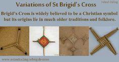 Variations on St Brigid's Cross Image copyright Ireland Calling