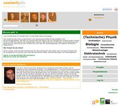Projektwebsite, die Jugendlichen einen Einblick in die vielfältigen Berufsfelder im Bereich Naturwissenschaften/Technik (Nawitech) ermöglichen soll. Projektleitung: ÖGUT, gefördert durch ZIT Kommunikation