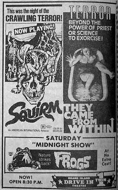 Squirm/They Came from Within double bill