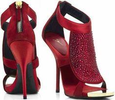 ღ♥♥ღ Fashion Is Life ღ♥♥ღ: Red Color High Heels Sandal