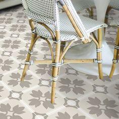 Vinyl Floor Tile Sticker - Margot in Taupe – Quadrostyle Tile Decals, Vinyl Tiles, Vinyl Flooring, Floor Design, Tile Design, Peel And Stick Vinyl, Floor Stickers, Floor Trim, Pvc Vinyl