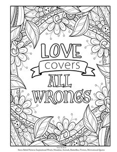 Adult Coloring Book Page Inspirational And Encouraging Words Quotes Plus Animals Mandalas Paisley Patterns Flowers To Color