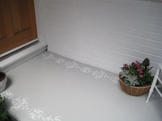 {Beautiful Nest}: Painted and Stenciled Front Porch