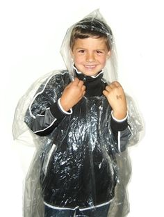 Childrens Emergency Disposable Rain Poncho! A great economic choice to keep your kids dry at any outdoor event.  As low as $0.55/ Rain Poncho!