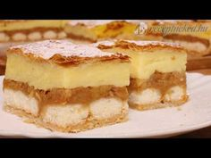 Apple pudding cake with puff pastry * Simple recipes Easy Cake Recipes, Apple Recipes, Dream Cake, Pudding Cake, Nutella, Cheesecake, Easy Meals, Food And Drink, Baking