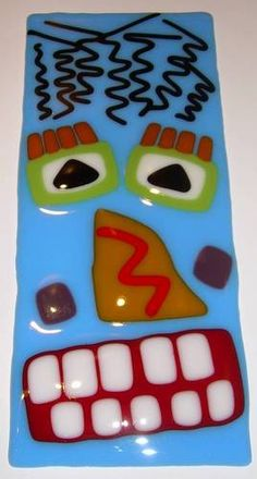 Fused glass.  Did some of these classes with Dayton for Xmas ornaments  Fun.