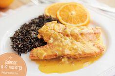 Salmon a la naranja receta