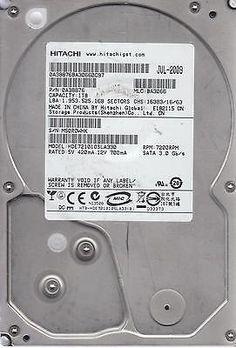 HDE721010SLA330 PN 0A38876 MLC BA3066 Hitachi 1TB SATA 3.5 Bsectr HDD