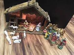 Image result for homemade outdoor nativity scene Outdoor Nativity Scene, Nativity Creche, Homemade, Table Decorations, Projects, Image, Painting, Home Decor, Log Projects