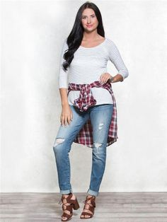 Grey Striped Crochet Basic