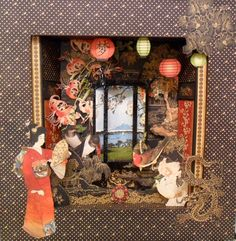 Bird Song Shadow Box - Candy Box Crafts decorating the exterior