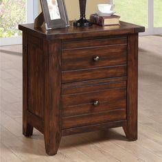 Contemporary Nightstand Drawer Rustic Classic Solid Wood Bedroom Furniture New #Domusindo #ContemporaryCountryRustic #Furniture #Nightstand #Drawer #Home