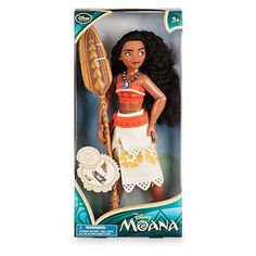 Deluxe costume with intricate detailing Fully poseable Rooted, styled hair Includes paddle accessory and necklace Packaging turns into a boat - pop out to assemble (instructions included, ''branches''