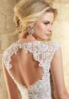 Wedding Dresses and Bridal Gowns by Morilee designed by Madeline Gardner. Mori Lee Bridal Wonderful Lace Coverlet