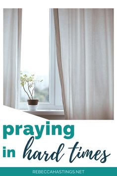 Find simple ways to pray during hard seasons like the Coronavirus pandemic. Plus, get a free printable to help you connect with God today!