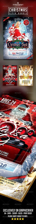 Christmas Flyer Bundle Official website : http://thats-design.com/