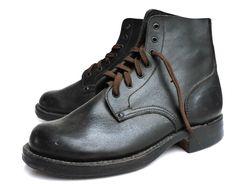 Dr. Martens, Combat Boots, Ankle, Vintage, Shoes, Fashion, Black Leather, Boots, German Helmet
