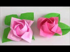 【折り紙】[難]×2 カワサキローズ『開花』を折ってみた Kawasaki Rose - YouTube