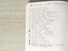 To read list in a bullet journal via http://www.thelazygeniuscollective.com/blog/how-to-bullet-journal.