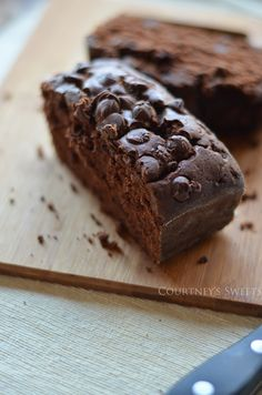 Double Chocolate Loaf Cake- modify for gluten free & dairy free: use dairy free butter or other substitute along with a gluten free flour or blend