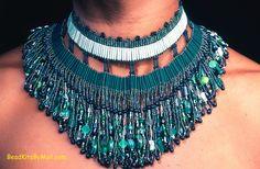 Green Mansions Broad Collar Kit at BeadKitsByMail.com