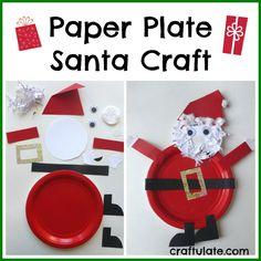 Paper Plate Santa Craft - Craftulate