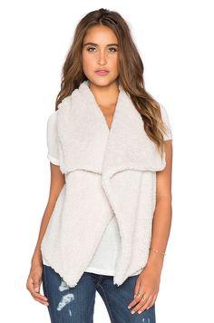 BB Dakota Rennie Faux Fur Vest in Ivory