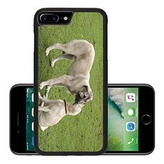 Luxlady Premium Apple iPhone 7 Plus Aluminum Backplate Bumper Snap Case iPhone7 Plus IMAGE ID: 25474146 two dogs in love