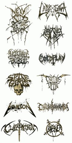 lolz ... black metal logos for mainstream bands \\