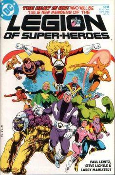 Legion of Super-Heroes #14 (1985), Steve Lightle, Baxter series, recruits, try-outs, Polar Boy