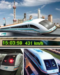 These ambitious concept trains move beyond the dream of steam to a new world of locomotive power. Clear the track, the train is back! Futuristic Technology, Retro Futuristic, Science And Technology, Train Car, Train Travel, Shanghai Maglev Train, Canadian National Railway, Future Transportation, High Speed Rail