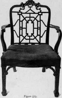 Chair in Chippendale style, Chinese taste, third quarter eighteenth century.
