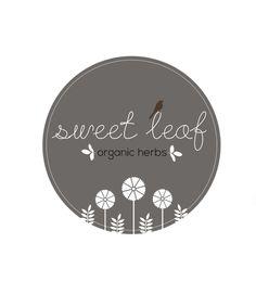 Sweet Leaf Organic Herbs #logo #design