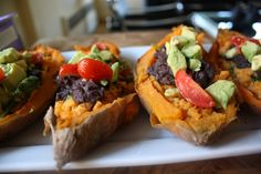 Twice Baked Mexican Style Loaded Sweet Potato