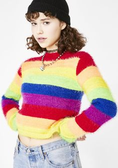 27f0d35157d7 Current Mood Dream In Color Fuzzy Sweater