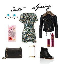 """""""Into Spring"""" by julia-chy on Polyvore featuring Topshop, Laurence Dacade, Burberry, Jérôme Dreyfuss, Pamela Love, Lipstick Queen, women's clothing, women, female and woman"""