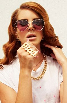 Beautiful Lana Del Rey as a redhead!  | Daily Mail Online