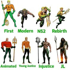 League Costume time to Time Dc Comics Heroes, Arte Dc Comics, Fun Comics, Aquaman, Marvel E Dc, Marvel Comics, Comic Book Characters, Comic Character, Univers Dc