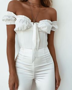 Lovely all white outfit ღ Awesome fashion clothes for stylish women from Zefinka.